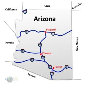 Arizona to California Freight Shipping Rates