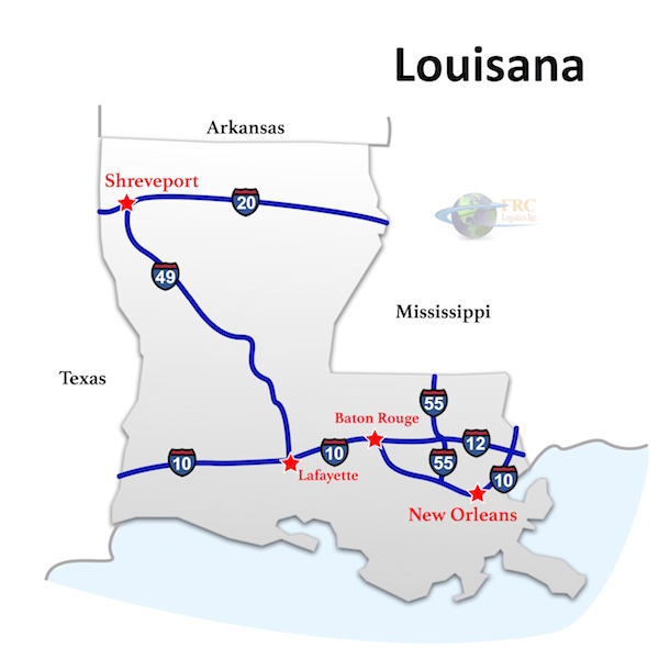 Louisiana to North Dakota Freight Trucking Rates