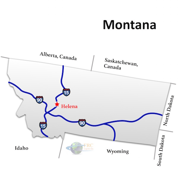 Montana to California Freight Trucking Rates