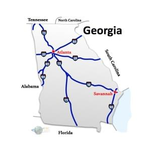 Georgia to Indiana Freight Shipping Quotes and Trucking Rates