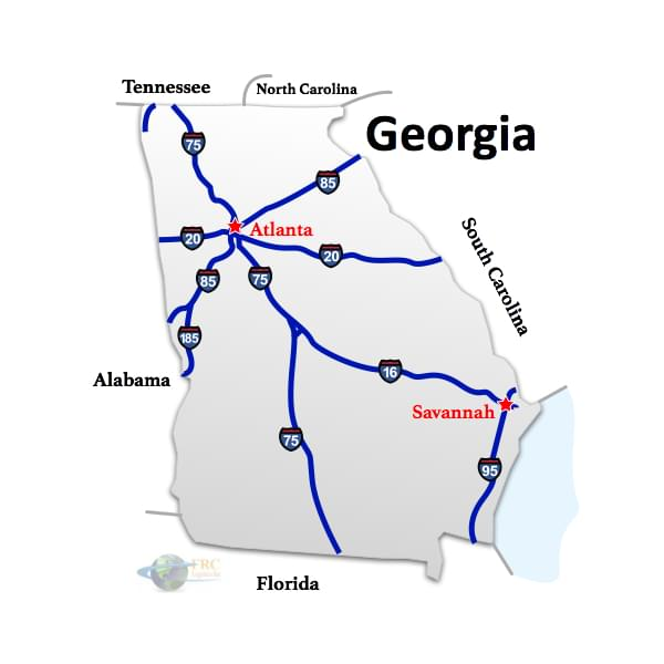 Georgia to South Carolina freight shipping in Atlanta, Augusta, Albany, Marietta, Macon, Ga