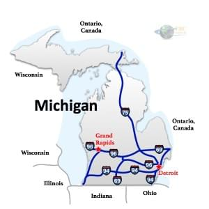 Michigan to GeorgiaFreight Shipping Rates