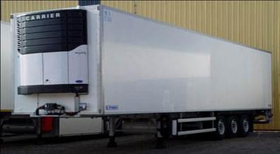 A temperature-controlled type of trailer is displayed in the image that carries very sensitive objects