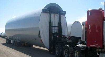 Specialized trailers are shown in the image which is used for certain types of freights
