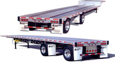Flatbed trailers are shown in above image