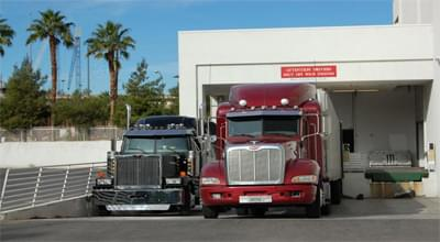 Two trucks ready to leave